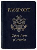 passaporto americano ad alta risoluzione foto