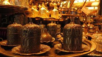 tazze di caffè turco foto