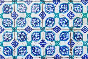 piastrella blu turco foto