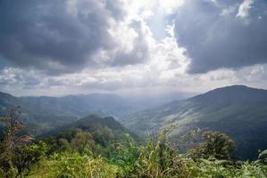punto di vista dalla montagna