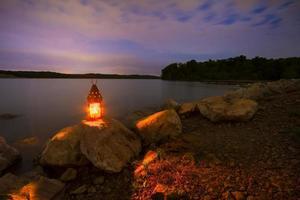 Blue Springs Lake di notte foto