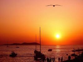 il tramonto di ibiza foto