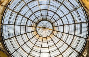 tetto della galleria vittorio emanuele ii foto
