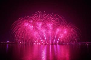 festival di fuochi d'artificio in Corea. foto