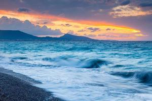 tramonto di rodi grecia foto