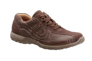 scarpa da uomo in pelle marrone foto