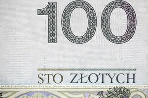 cento banconote polacche foto