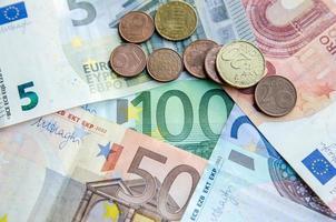 euro moneta cartacea foto