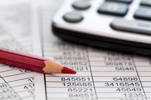 calcolatrice e statistk foto