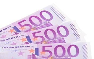 Banconote da 500 euro foto