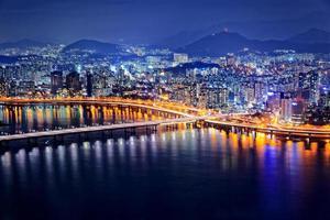 Seoul al crepuscolo foto