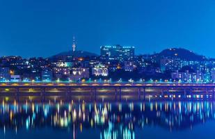 Seoul di notte foto