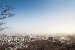 paesaggio urbano del centro di Seoul. foto