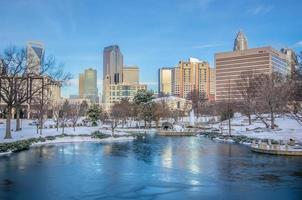 Charlotte North Carolina Marshall Park in inverno foto