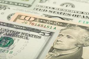 sfondo di banconote di denaro dollaro USA foto