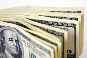 soldi degli SUA isolati nel bianco foto