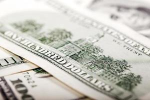 macro di bolletta USA cento dollari foto