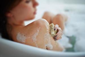 rilassante in bagno foto