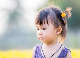 piccola ragazza asiatica foto