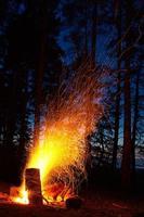 scintille di fuoco foto