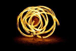 spettacolo di fuoco foto