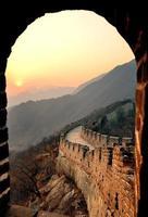 grande muraglia al tramonto foto