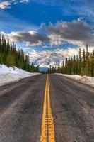inverno nel parco nazionale di banff foto