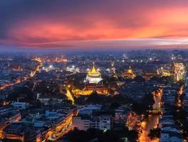 tramonto del monte d'oro