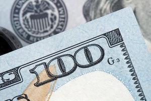 soldi americani, banconote da cento dollari foto