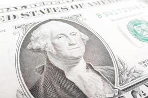 una banconota da un dollaro foto