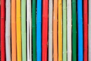 sfondo colorato di bambù foto