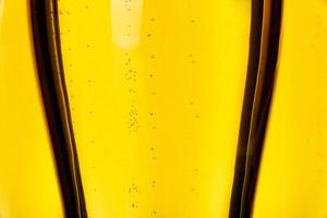 primo piano della birra foto