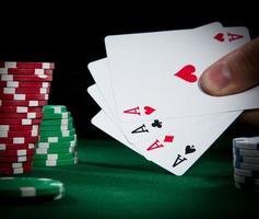 primo piano del poker foto