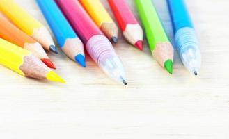 primo piano delle matite foto