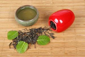 tè, primo piano foto