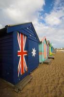 bagni di spiaggia di Brighton foto