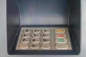 primo piano di bancomat