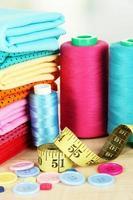 tessuti di stoffa da vicino foto