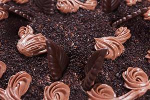primo piano della torta al cioccolato