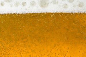 da vicino sulla birra foto