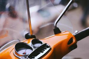 scooter d'epoca da vicino