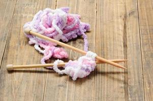 vicino lana a maglia foto