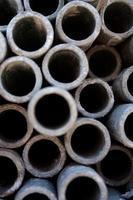 tubo metallico - primo piano foto