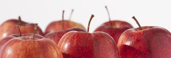 mele rosse, da vicino foto