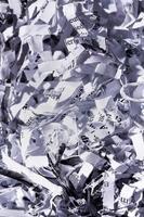fine della carta tagliuzzata foto