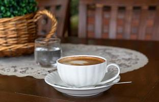 tazza di cappuccino da vicino foto