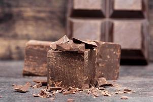 primo piano cioccolato fondente foto