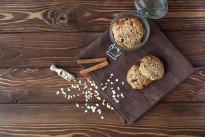 biscotti di farina d'avena, primo piano foto