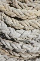 primo piano della corda arrotolata foto