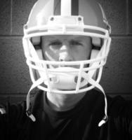 giocatore di football da vicino foto
